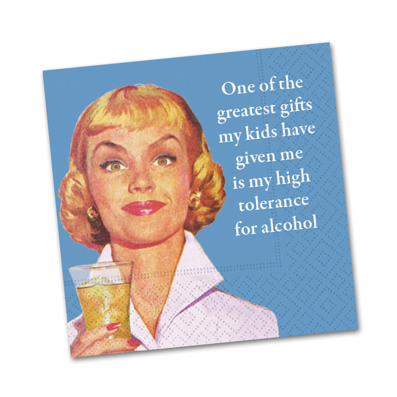 Greatest Gift from Kids, Funny Cocktail Napkins