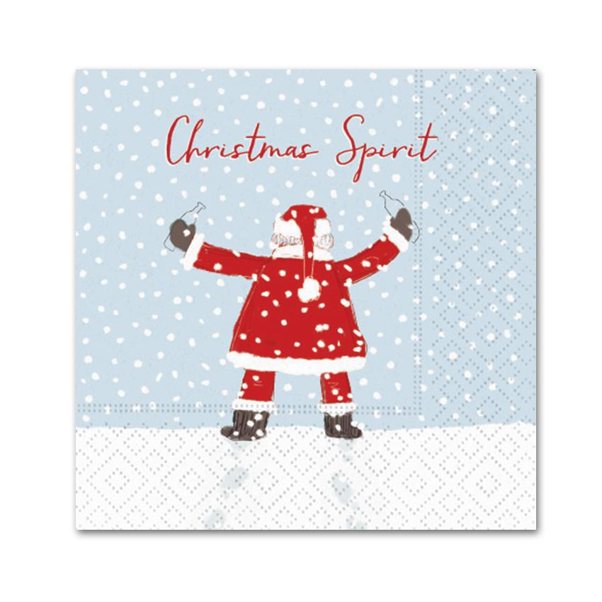 Christmas Spirit Santa, Funny Cocktail Napkins