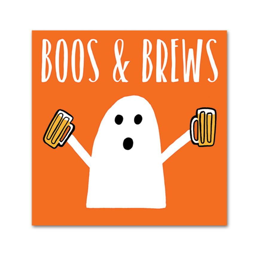 Ghost Brew, Funny Halloween Cocktail Napkins