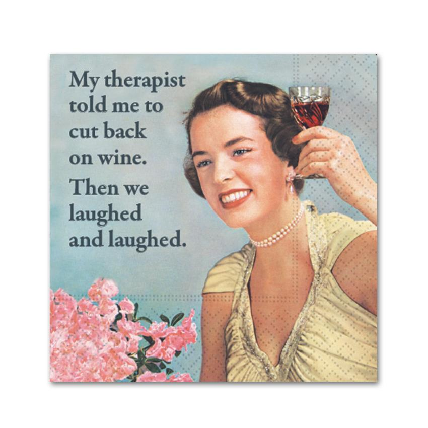 Therapist Joke, Funny Cocktail Napkins