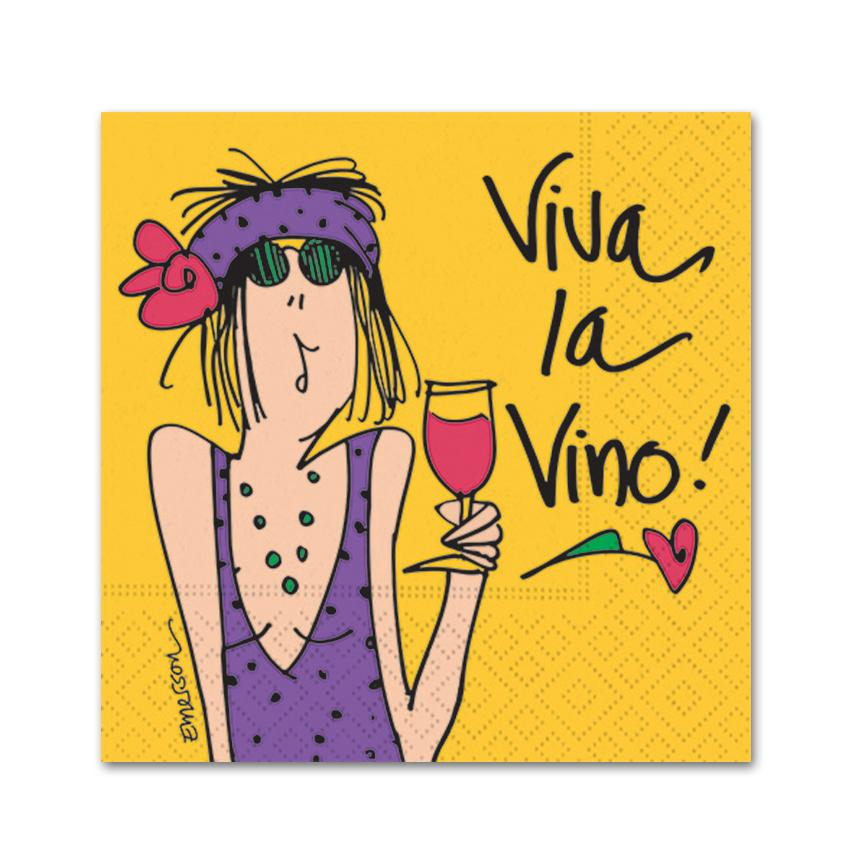 Viva La Vino Cocktail Napkins