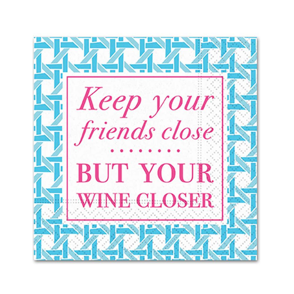 Keep Your Friends Close Funny Cocktail Napkins