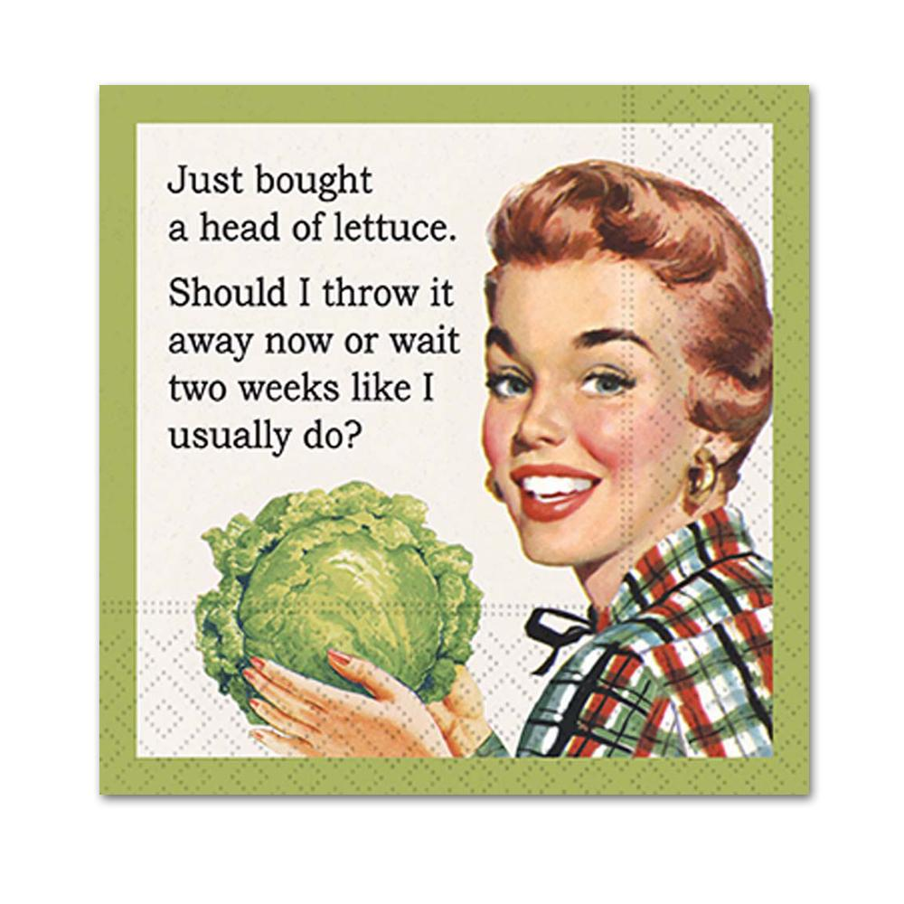 Just Bought Lettuce Funny Cocktail Napkins