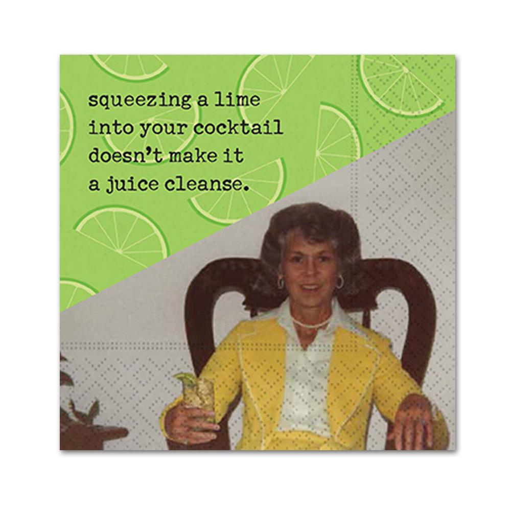 A Juice Cleanse Funny Cocktail Napkins