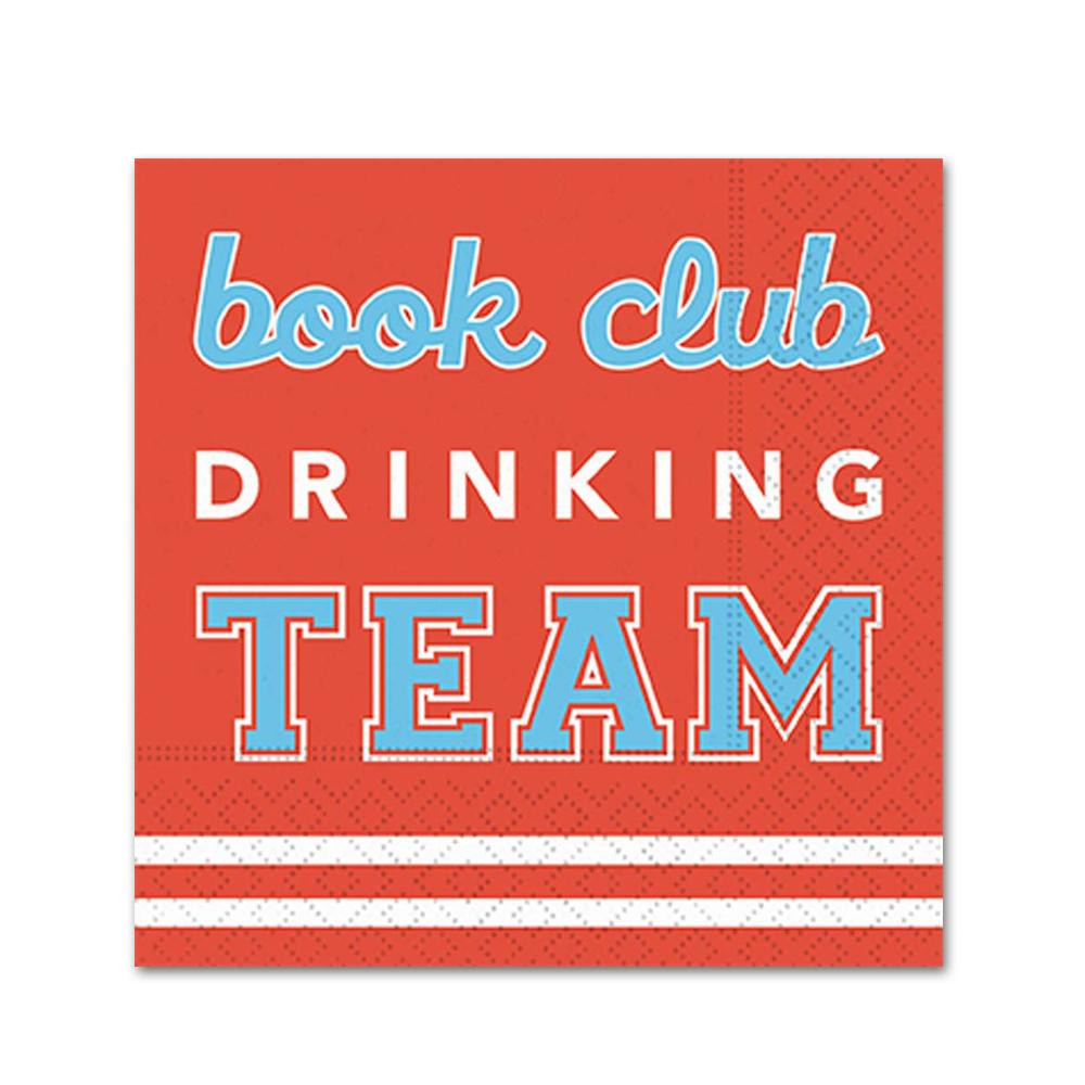 Team Book Club Funny Cocktail Napkins