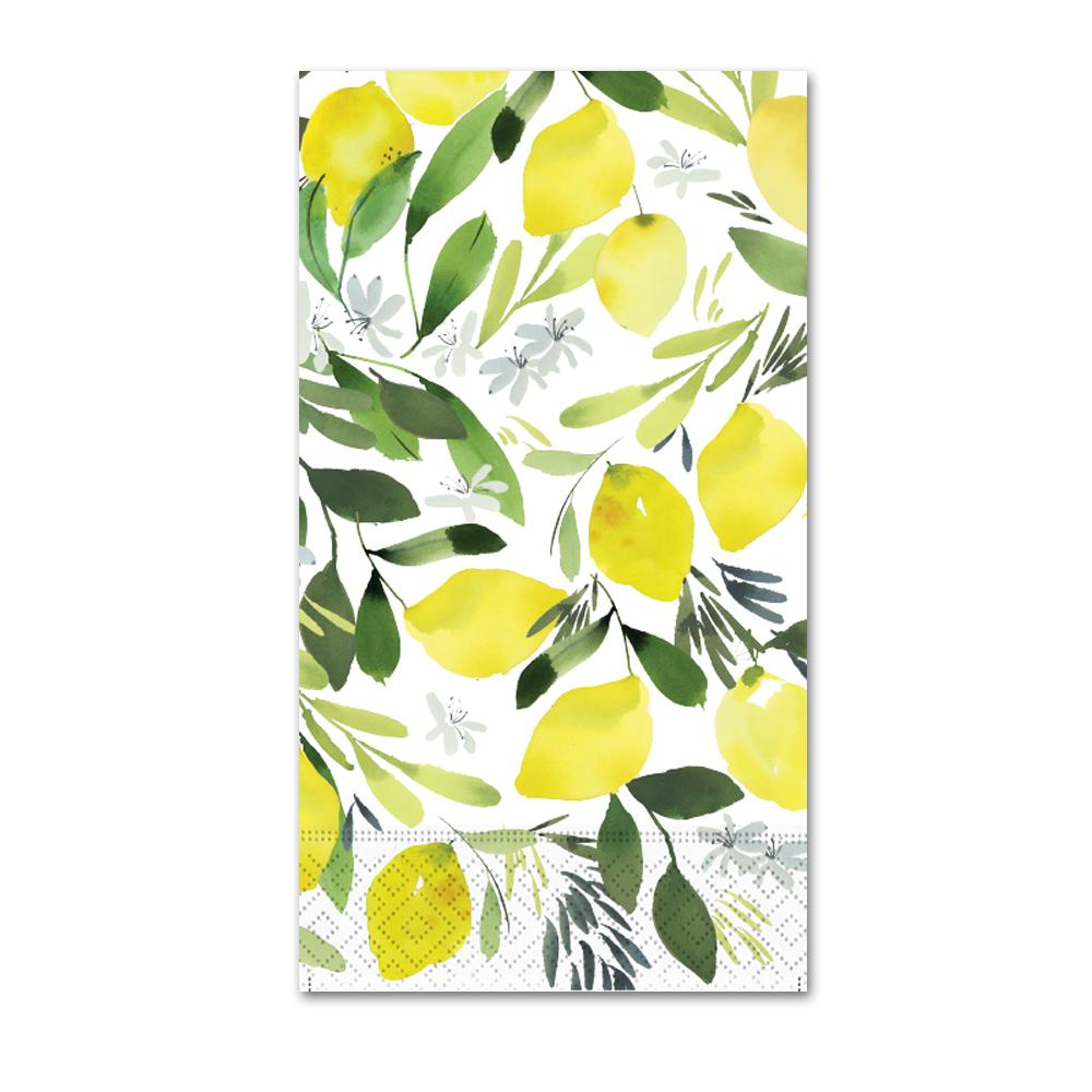 Lemon Blossom Paper Guest Towels - Buffet Napkins