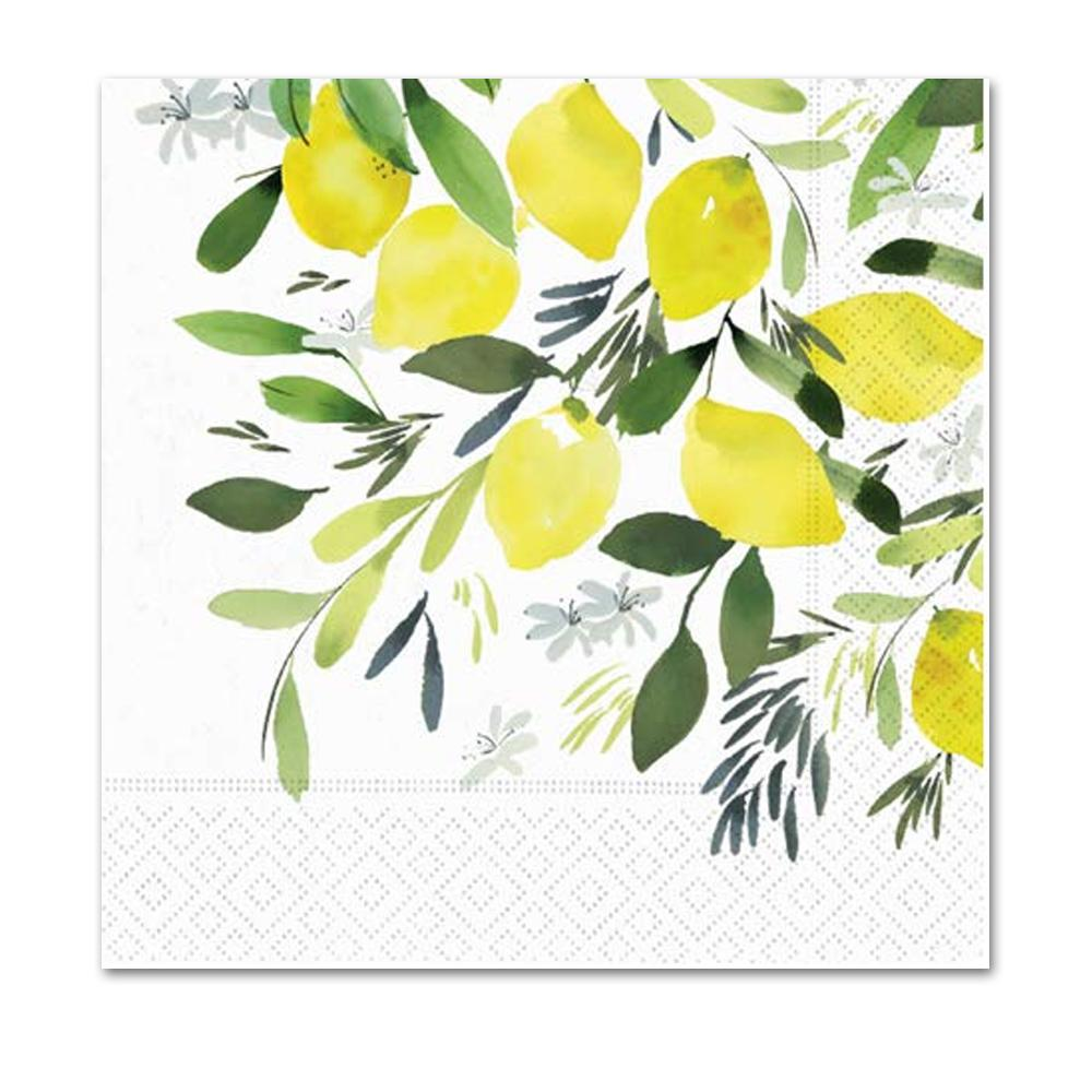 Lemon Blossom Paper Luncheon Napkins