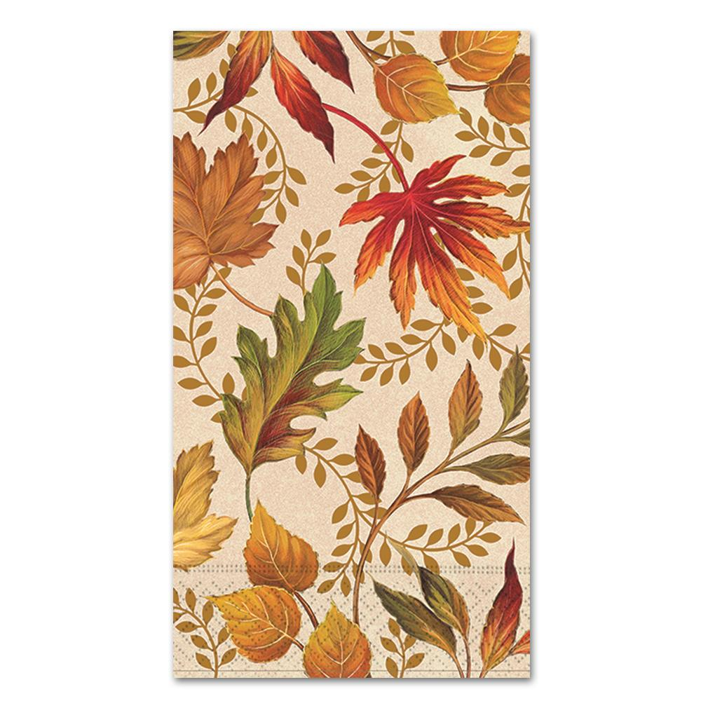 Autumn Elegance Paper Guest Towels - Buffet Napkins