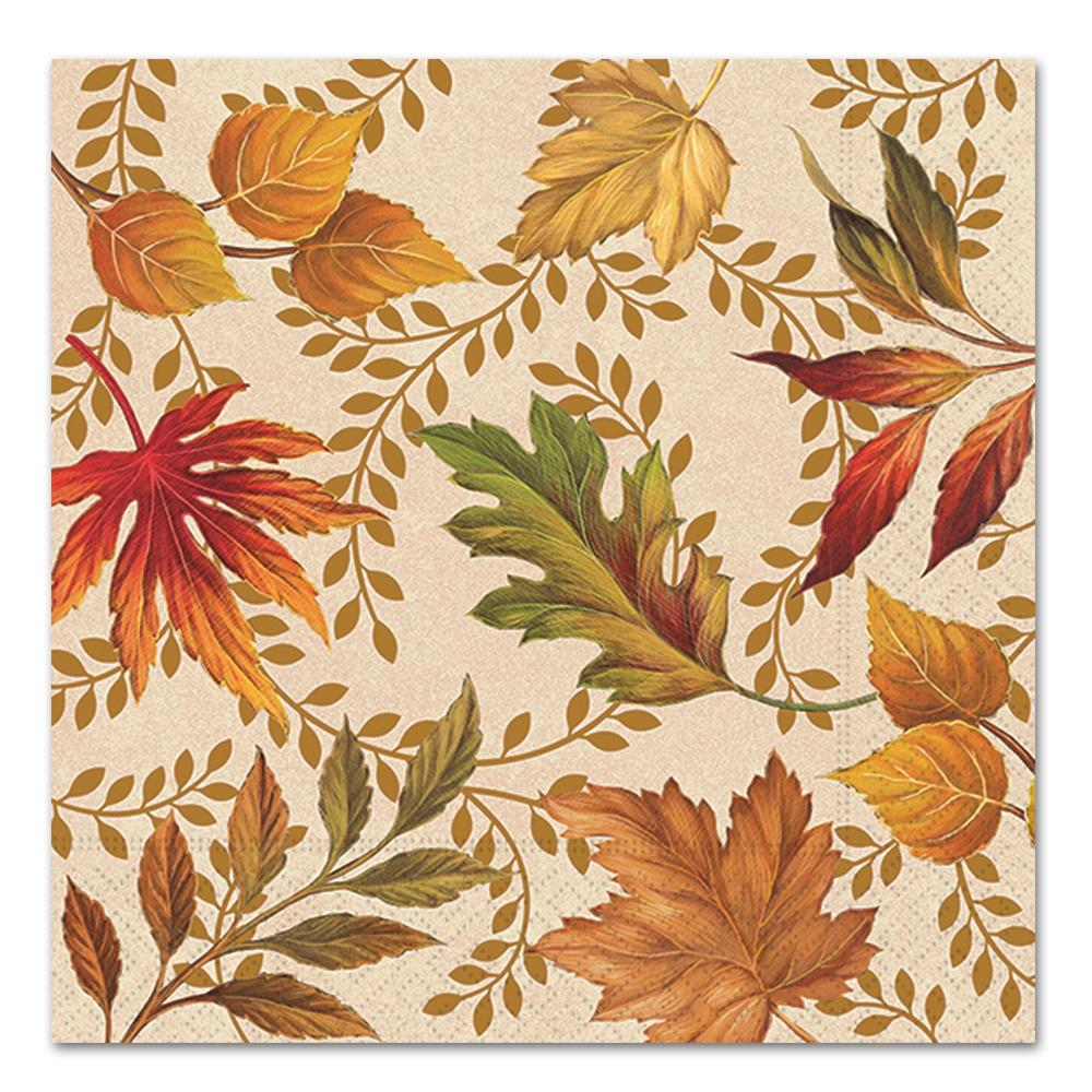 Autumn Elegance Paper Luncheon Napkins