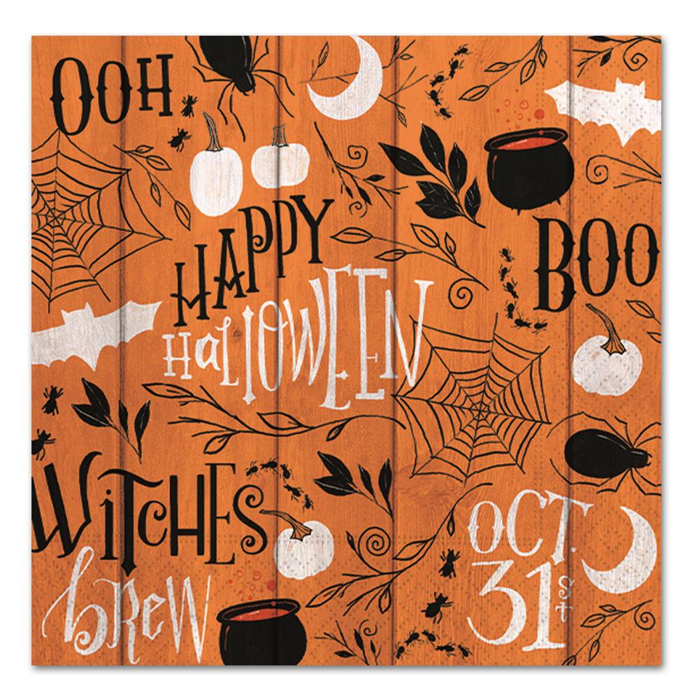 Happy Halloween Collage Paper Luncheon Napkins