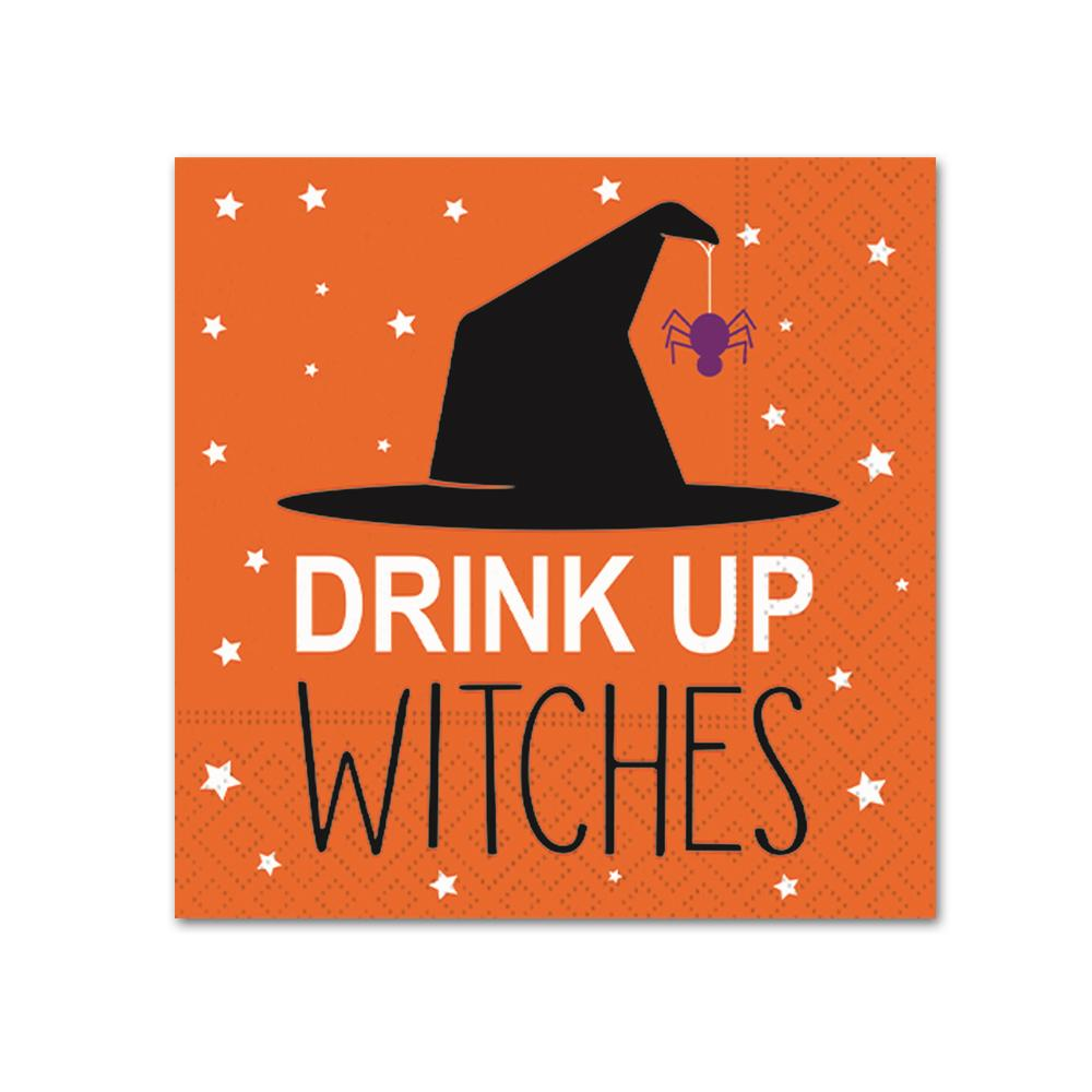 Drink up Witches! Funny Halloween Cocktail Napkins