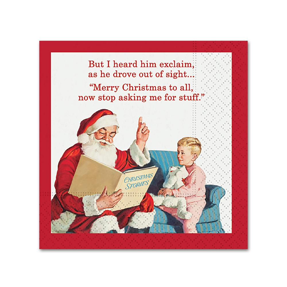 But I Heard Him Explain! Funny Christmas Cocktail Napkins