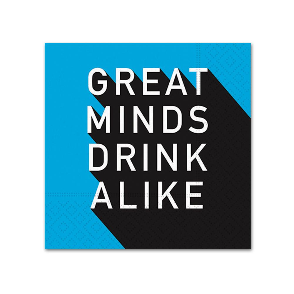 Great Minds Drink Alike Funny Cocktail Napkins
