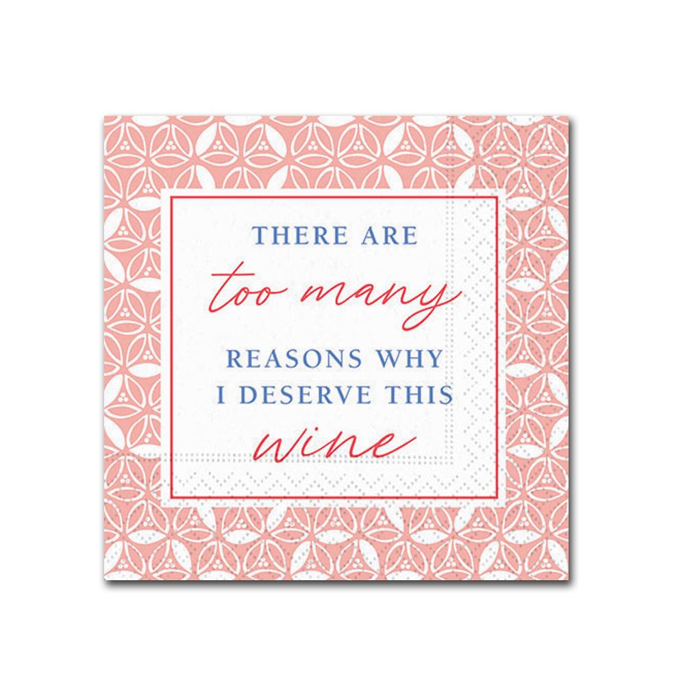 Too Many Reasons Funny Cocktail Napkins