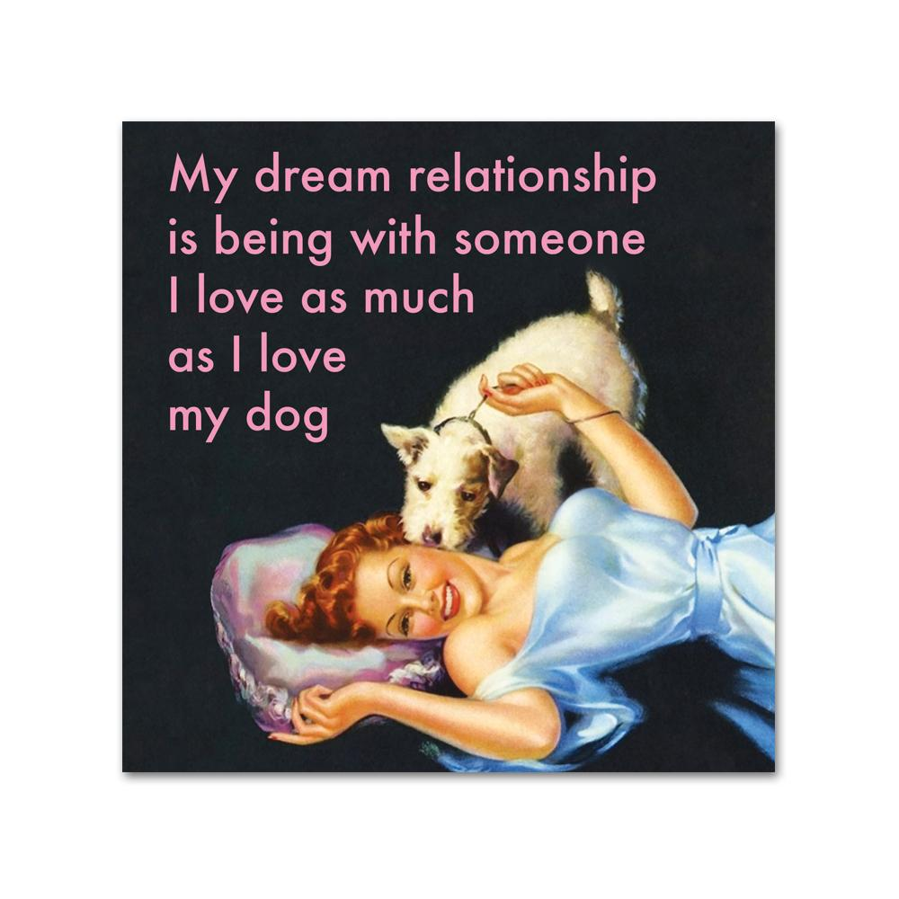 Dream Relationship Funny Cocktail Napkins