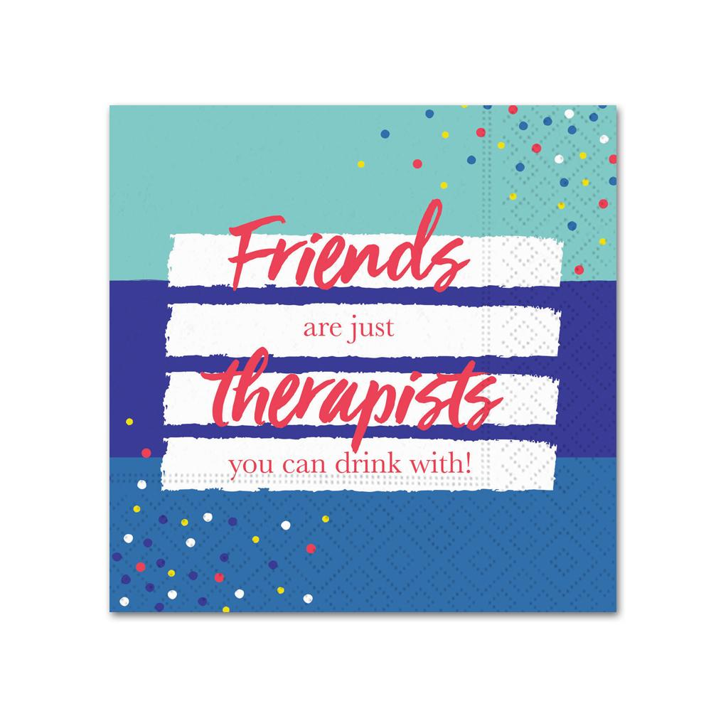 Friends are Therapists Funny Cocktail Napkins