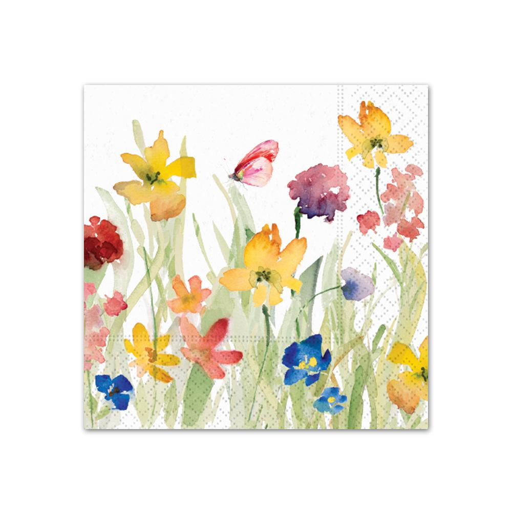 Wildflowers Meadow Paper Beverage Napkins