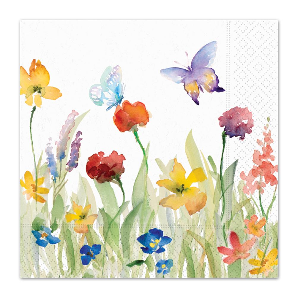 Wildflowers Meadow Paper Luncheon Napkins