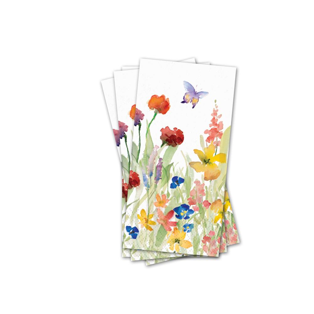 Wildflowers Meadow Paper Pocket Hankies