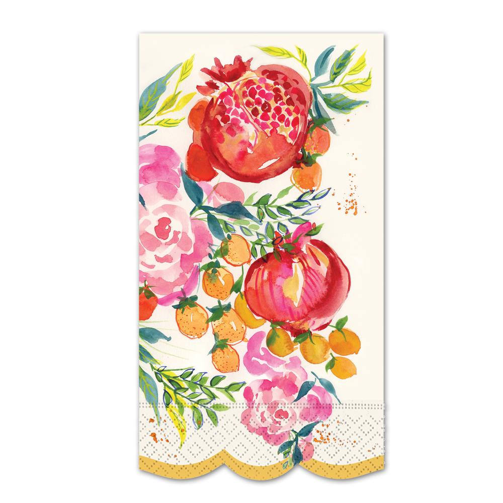 Pomegranate Bloom Paper Guest Towels - Buffet Napkins