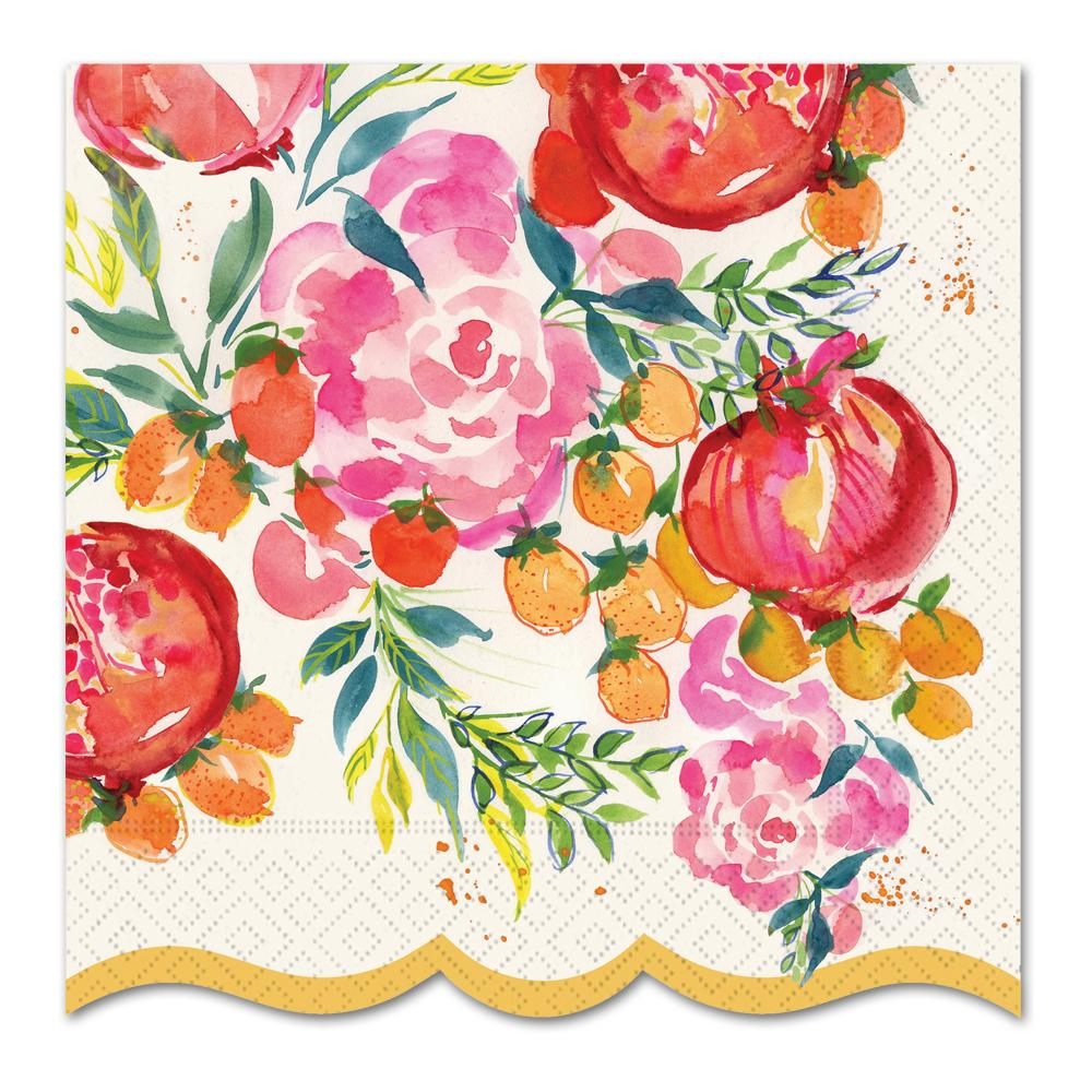 Pomegranate Bloom Paper Luncheon Napkins
