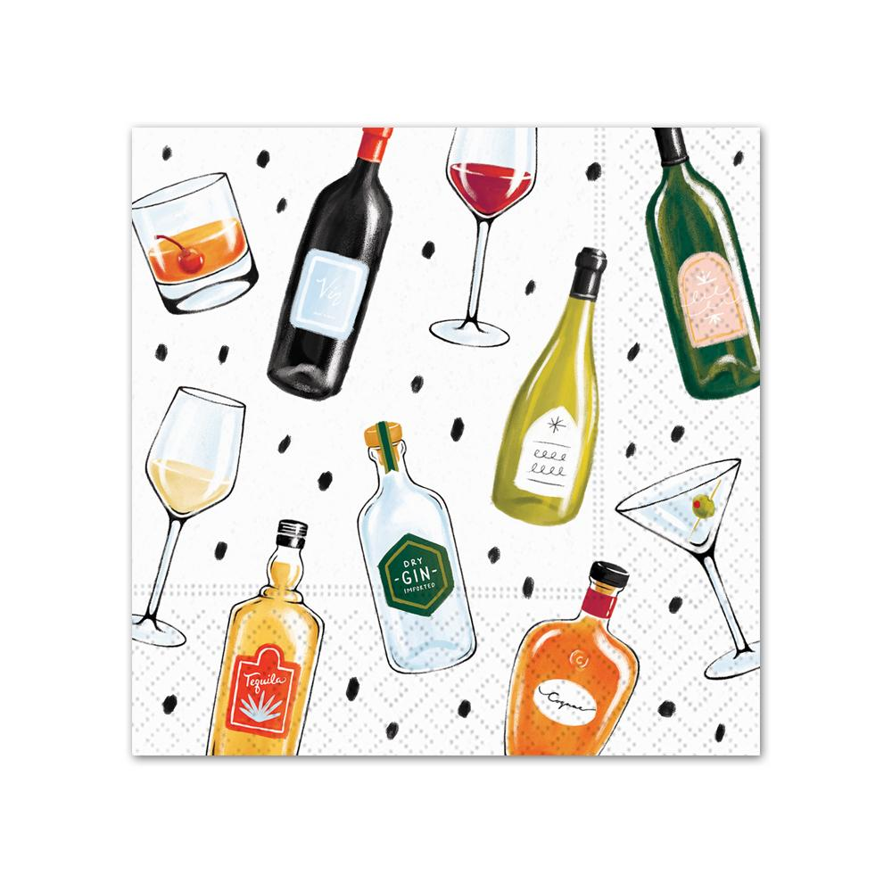 Perfect Pairings Wine & Cocktails Beverage Napkins
