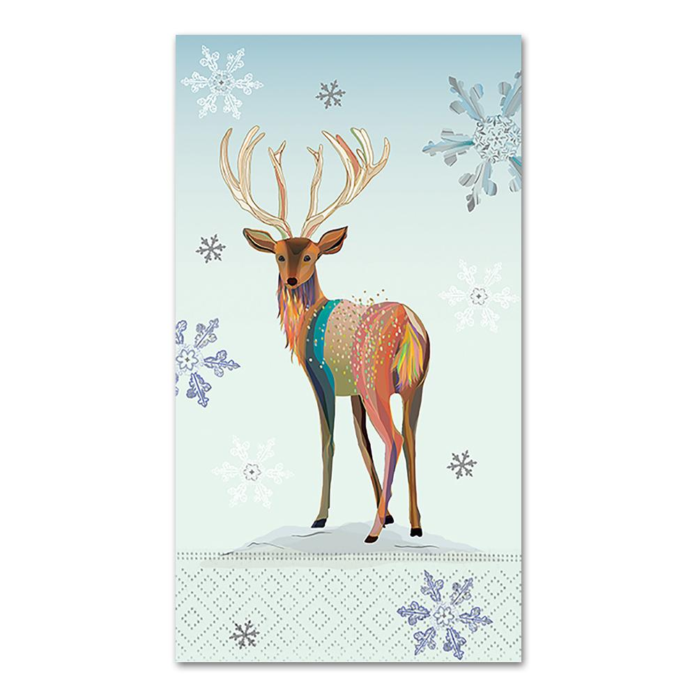 Reindeer Magic Winter Paper Guest Towels - Buffet Napkins