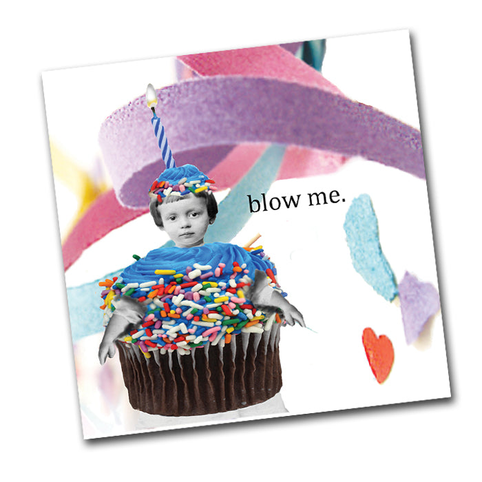 Blow Me! Funny Birthday Cocktail Napkins