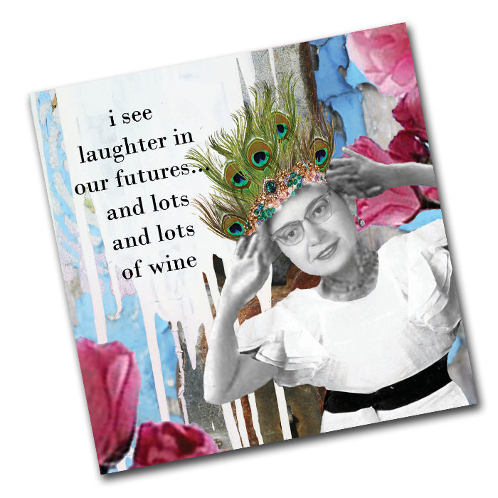 Laughter in our Futures - Funny Cocktail Napkins