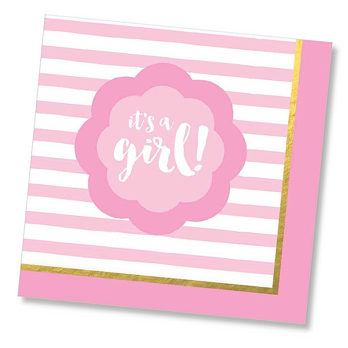 It's a Girl! Paper Napkins - Luncheon