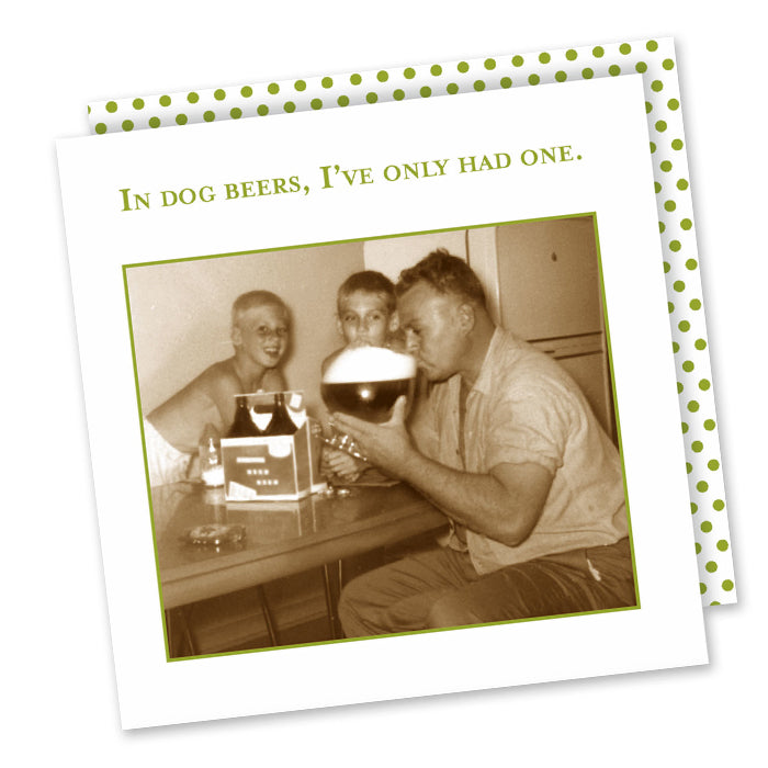 In Dog Beers Funny Cocktail Napkins