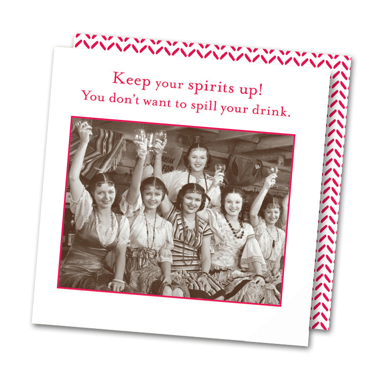 Keep Your Spirits Up Funny Cocktail Napkins