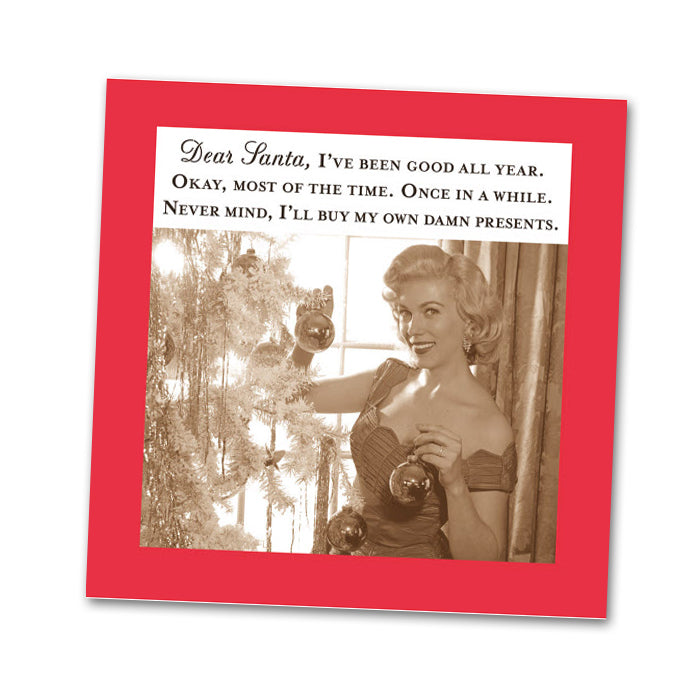 Dear Santa Funny Cocktail Napkins
