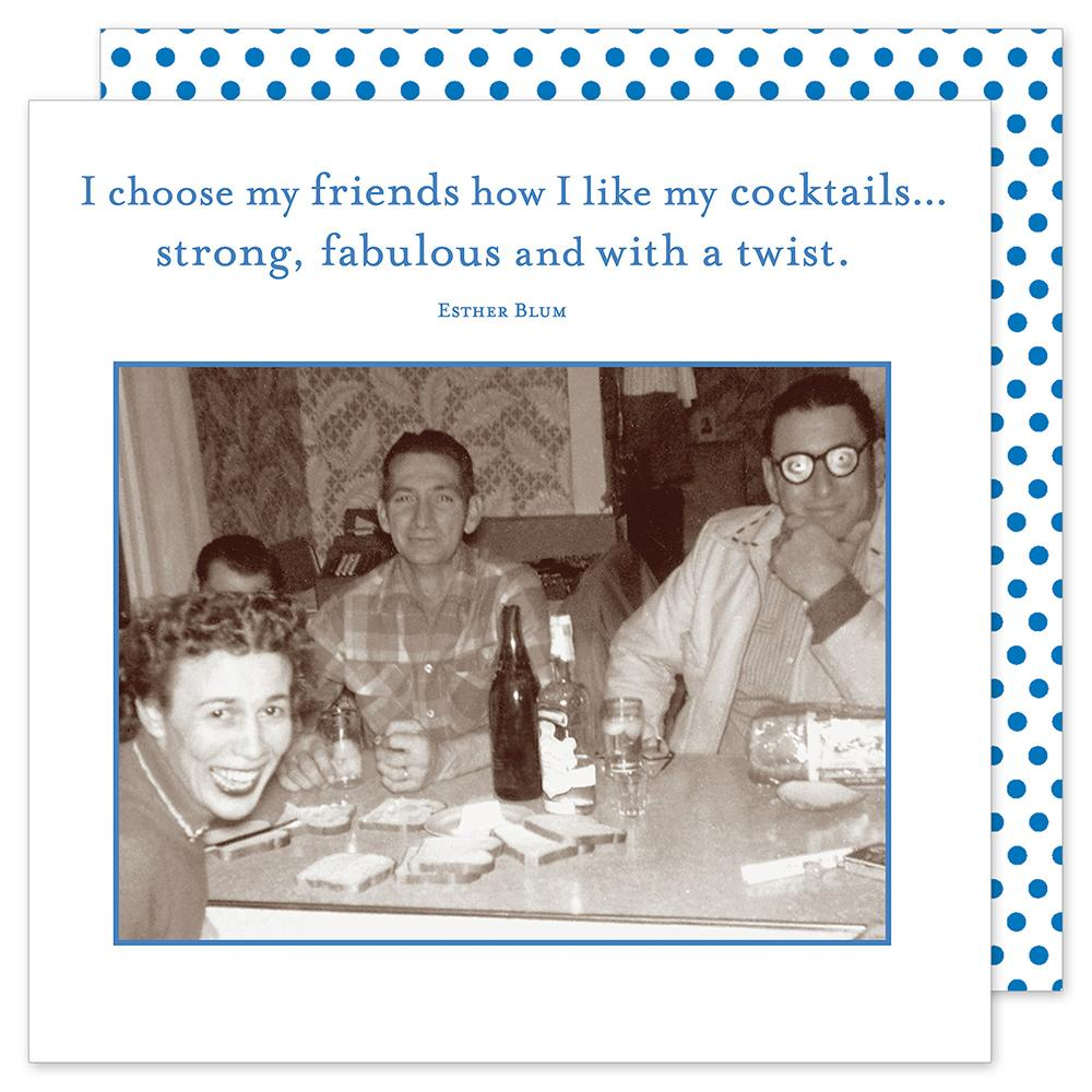 With A Twist, Funny Cocktail Napkins