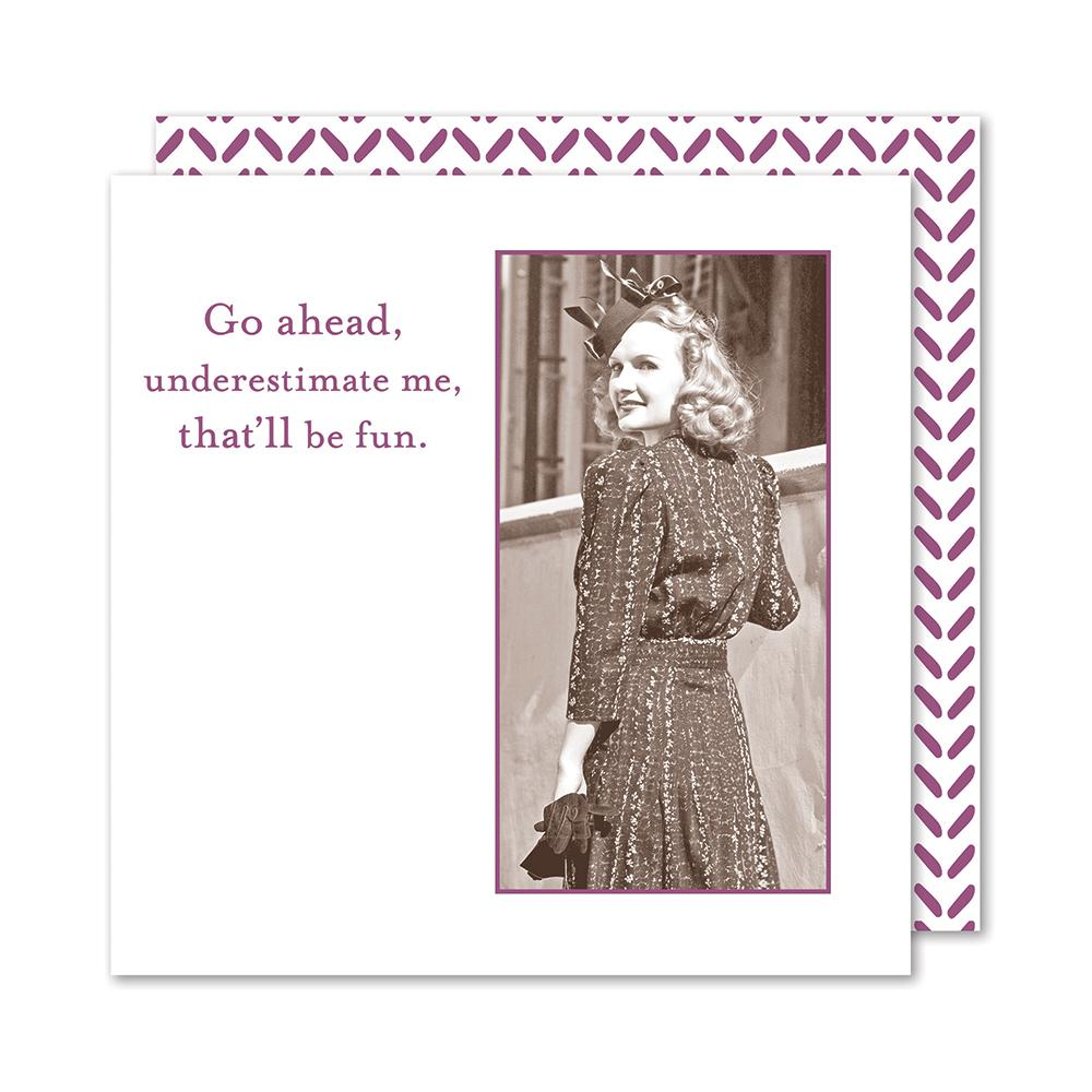 Underestimate Me, Funny Cocktail Napkins