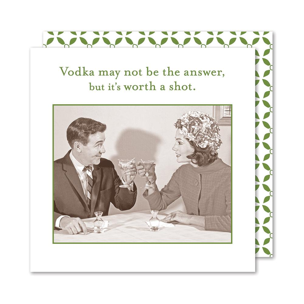 Vodka May Not Be the Answer, Funny Cocktail Napkins