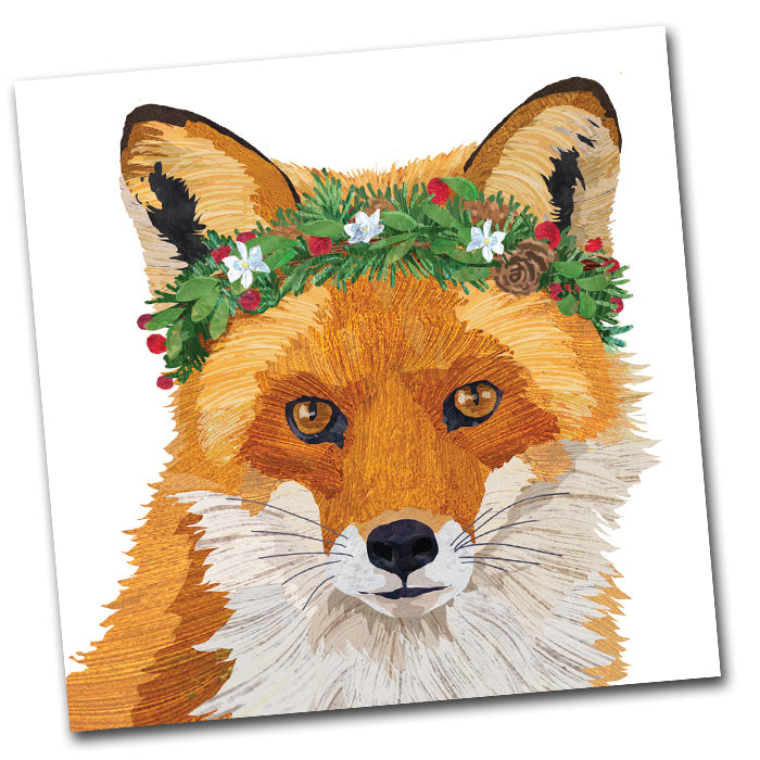 Holiday Glacier Fox Paper Napkins - Luncheon