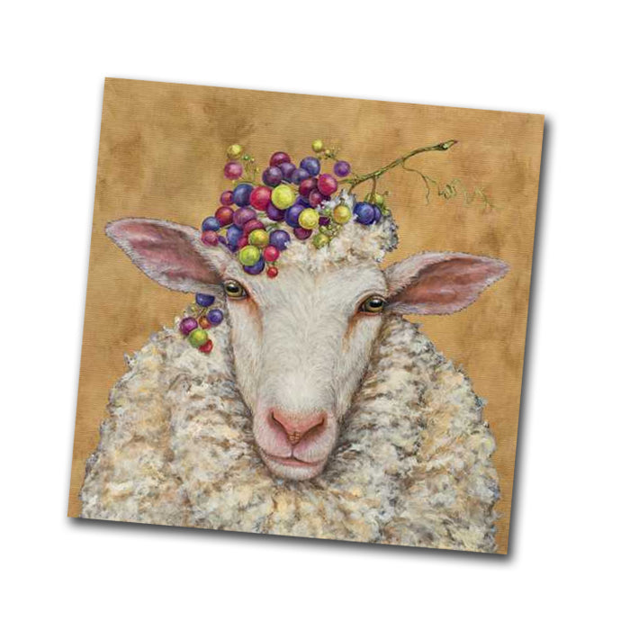Vinyard Sheep Paper Napkins - Beverage