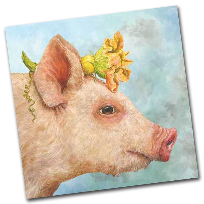 Blossom the Pig Paper Napkins - Luncheon