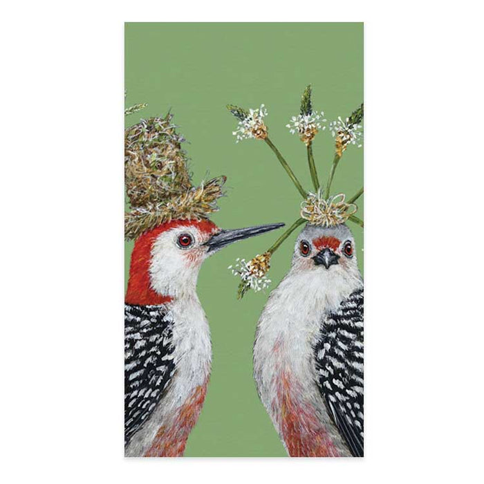 First Date Birds Paper Guest Towels - Buffet Napkins