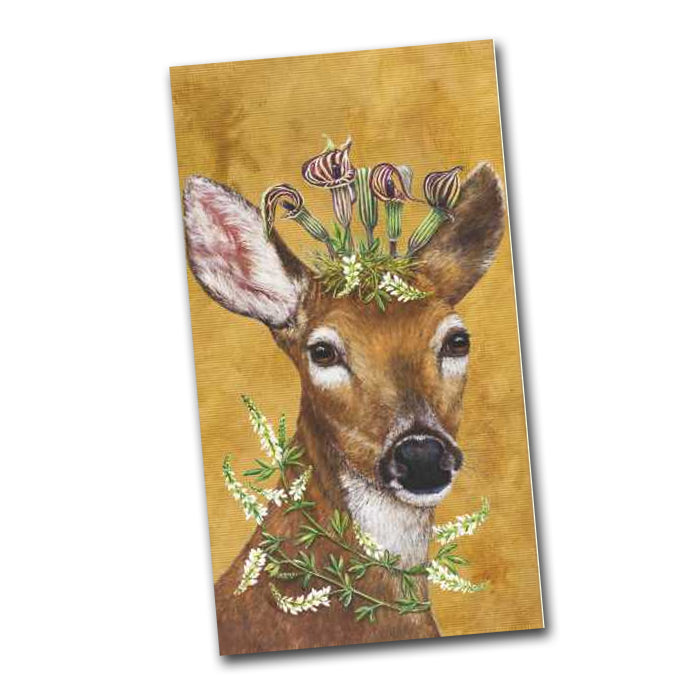Woodland Princess  Deer Guest Towels - Buffet Napkins