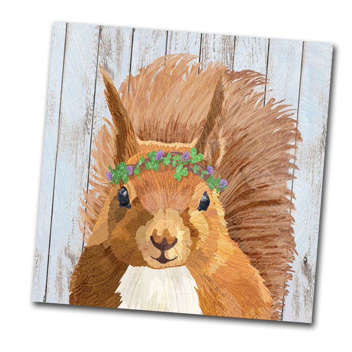 Shirley the Squirrel Paper Napkins - Luncheon