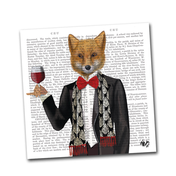 Lord Philip the Fox Paper Napkins - Beverage