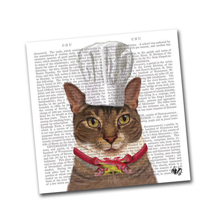 Charlie the Cat Chef Paper Napkins - Beverage