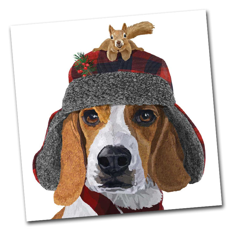 Oliver the Beagle Luncheon Napkin