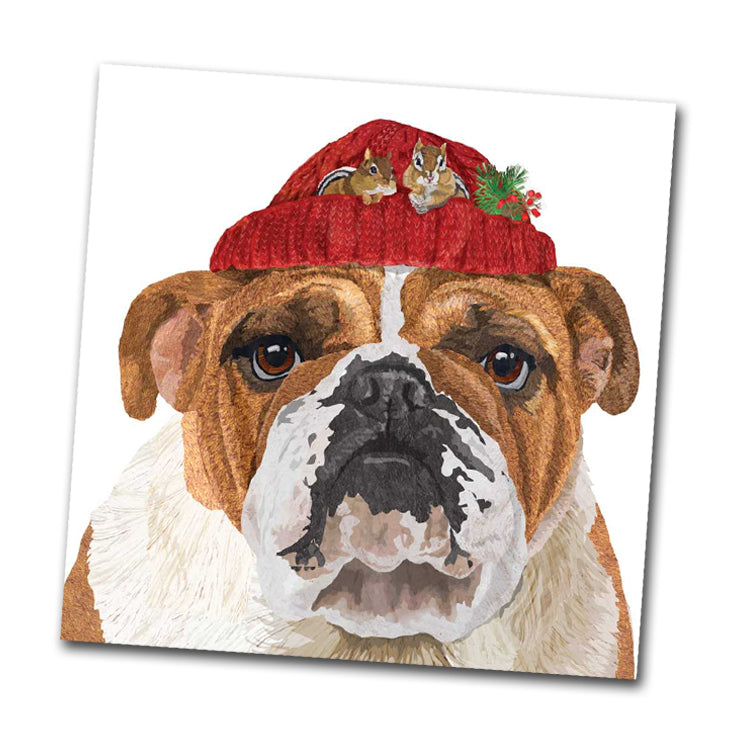 Reggie the Bulldog Beverage Napkin