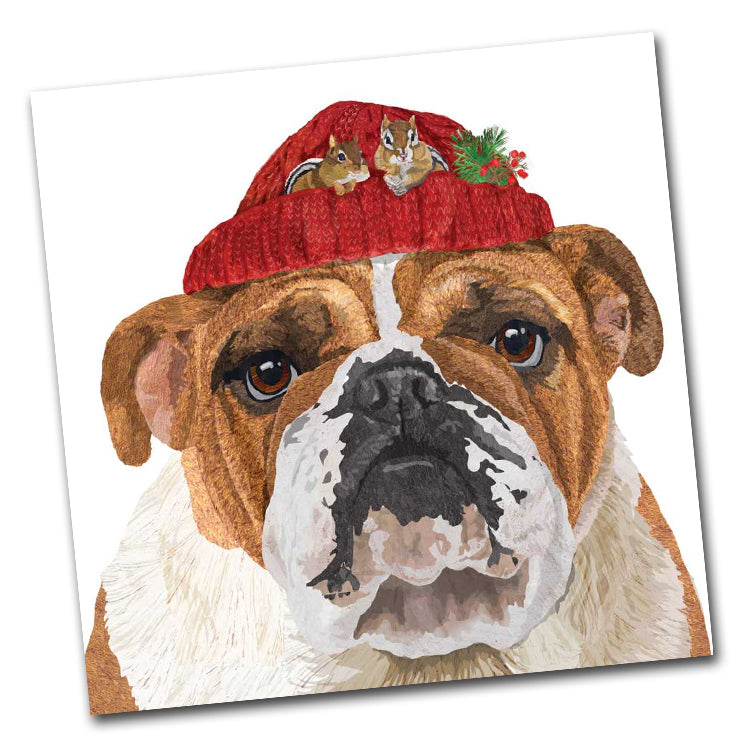 Reggie the Bulldog Luncheon Napkin