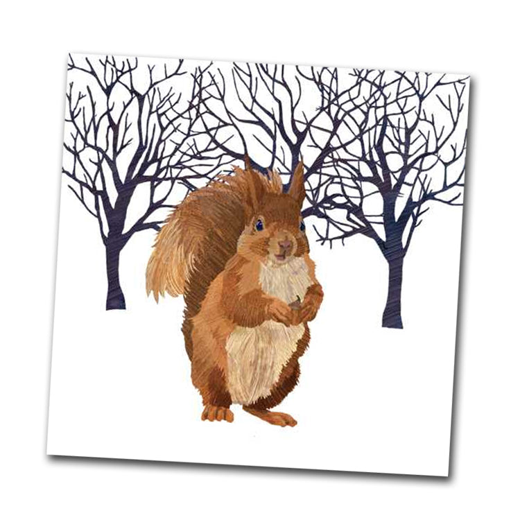 Winter Squirrel Beverage Napkin