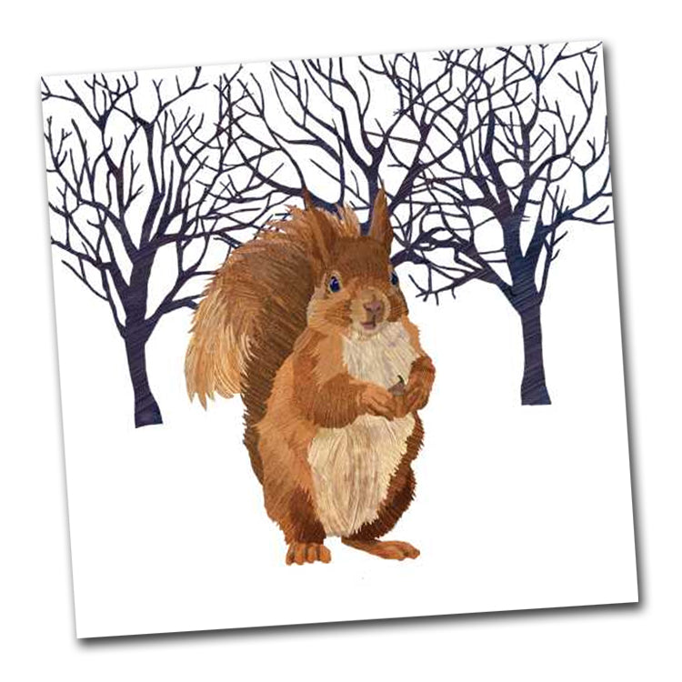 Winter Squirrel Luncheon Napkin