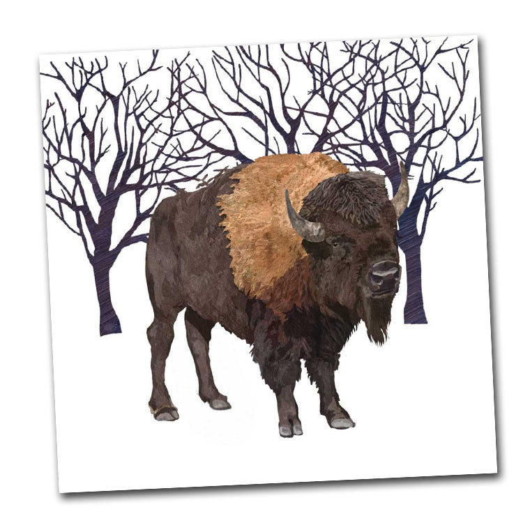 Winter Buffalo Luncheon Napkin